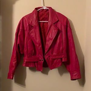 Duo Red Leather Jacket